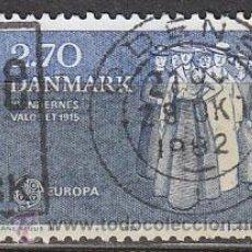 Sellos: DINAMARCA IVERT 753, EUROPA 1982 (DERECHO DE VOTO PARA LAS NUJERES EN 1915), USADO. Lote 27904539