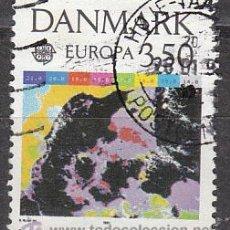 Sellos: DINAMARCA IVERT 1004, EUROPA 1991 (EUROPA Y EL ESPACIO), USADO. Lote 27904619