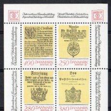 Sellos: DINAMARCA AÑO 1985 YV HB 5*** EXPO DE FILATÉLIA HAFNIA'87 - ORDENANZAS DE CORREO DANÉS - CZ SLANIA. Lote 28050474