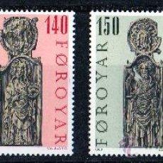 Sellos: FEROE AÑO 1980 YV 49/52*** ESCULTURAS DE LA IGLESIA DE KIRKJOBOUR - ARTE - RELIGIÓN - CZ SLANIA. Lote 28073519
