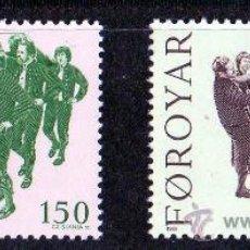 Selos: FEROE AÑO 1981 YV 57/58*** EUROPA - FIESTAS Y TRADICIONES POPULARES - FOLKLORE - CZ SLANIA. Lote 28073594