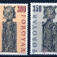 Sellos: FEROE AÑO 1984 YV 87/90*** ESCULTURAS DE LA IGLESIA DE KIRKJOBOUR (II) - ARTE - RELIGIÓN - CZ SLANIA. Lote 28073889