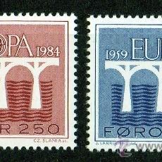Sellos: FEROE AÑO 1984 YV 91/92*** EUROPA - PUENTES - ARQUITECTURA - CZ SLANIA. Lote 28073915