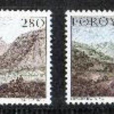 Sellos: FEROE AÑO 1985 YV 106/109*** VISTAS Y PAISAJES DE FEROE - TURISMO - BARCOS - CZ SLANIA. Lote 28292419