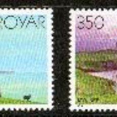 Sellos: FEROE AÑO 1985 YV 115/118*** FAROS - ARQUITECTURA. Lote 28292531