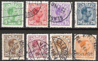 436-STAMPS CLASSIC DANMARK CRISTIAN X 1913. ANTIGUOS SELLOS DINAMARCA (Sellos - Extranjero - Europa - Dinamarca)
