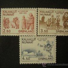 Briefmarken - Groenlandia 1983 Ivert 131/3 *** Milenio de la Historia de Groenlandia - Esquimales - 31810642