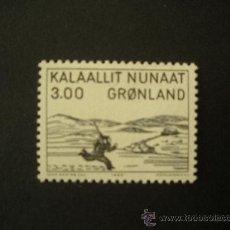 Sellos: GROENLANDIA 1980 IVERT 112 *** HOMENAJE AL PINTOR ARON KANGEQ - PINTURA SOBRE MADERA. Lote 31810743