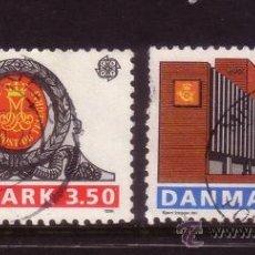 Sellos: DINAMARCA 978/79 - AÑO 1990 - EUROPA - EDIFICIOS POSTALES. Lote 32907320