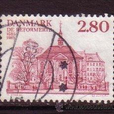 Sellos: DINAMARCA 831 - AÑO 1985 - TRICENTENARIO DE LA IGLESIA REFORMADA ALEMANA Y FRANCESA. Lote 33284661