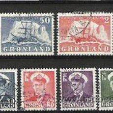 Sellos: 68-COMPLETA MICHEL 1950 VALOR 45,00€ GROENLANDIA.GRONLAND DANMARK DINAMARCA ,TEMATICA BARCOS,SHIPS,B. Lote 33332866