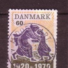 Sellos: DINAMARCA 505 - AÑO 1970 - 50º ANIVERSARIO DE LA RATIFICACION DE SCHLESWIG DEL NORTE A DINAMARCA. Lote 33521389