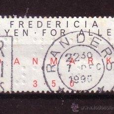 Sellos: DINAMARCA 992 - AÑO 1990 - PROYECTO FREDERICIA - UNA CIUDAD PARA TODOS. Lote 33521562