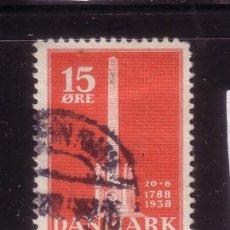Sellos: DINAMARCA 253 - AÑO 1938 - 150º ANIVERSARIO DE LA ABOLICION DE LA SERVIDUMBRE. Lote 33639774