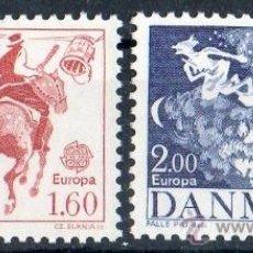 Sellos: DINAMARCA AÑO 1981 YV 733/34*** EUROPA - FIESTAS Y TRADICIONES POPULARES - FOLKLORE - CZ SLANIA. Lote 36103654