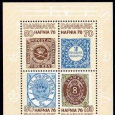 Sellos: DINAMARCA AÑO 1975 YV HB 3*** EXPOSICIÓN DE FILATELIA HAFNIA'76 - SELLO SOBRE SELLO - CZ SLANIA. Lote 36103968