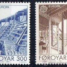 Sellos: FEROE AÑO 1987 YV 143/44*** EUROPA - ARQUITECTURA MODERNA - CZ SLANIA. Lote 36104822