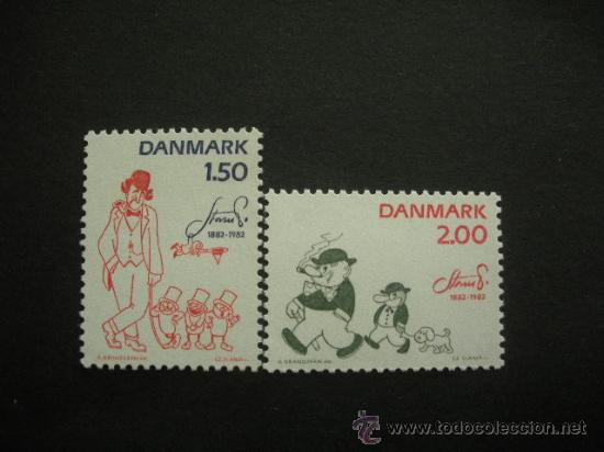 DINAMARCA 1982 IVERT 767/8 *** 100º ANIVERSARIO NACIMIENTO ARTISTA ROBERT STORN PETERSEN (Sellos - Extranjero - Europa - Dinamarca)