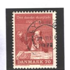 Sellos: DINAMARCA 1972 - MICHEL NRO. 530 - LUDVIG HOLBERG - USADO. Lote 185965450