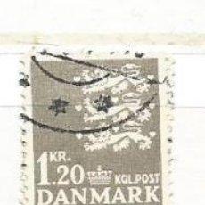 Timbres: DINAMARCA 1962. BÁSICO ESCUDO DE ARMAS, 1.20 CORONAS GRIS. Lote 52589120