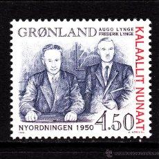 Sellos: GROENLANDIA 294** - AÑO 1998 - RELACIONES ENTRE GROENLANDIA Y DINAMARCA. Lote 41199605