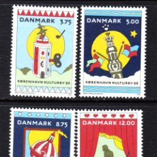 Sellos: DINAMARCA 1119/22** - AÑO 1996 - COPENHAGUE, CAPITAL EUROPEA DE LA CULTURA. Lote 45791613