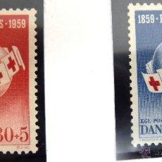 Sellos: SELLOS DINAMARCA 1959. NUEVOS. CRUZ ROJA.. Lote 47975307