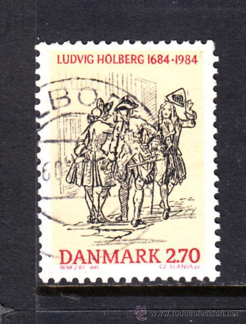 DINAMARCA 820 - AÑO 1984 - 300º ANIVERSARIO DEL NACIMIENTO DEL ESCRITOR LUDWIG HOLBERG (Sellos - Extranjero - Europa - Dinamarca)