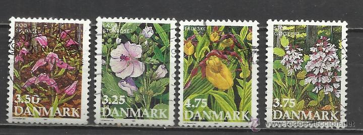 1207A-SELLOS DINAMARCA SERIE COMPLETA FLORES ,FLORA 984/7 VALOR 4,75€ YVERT. ********************** (Sellos - Extranjero - Europa - Dinamarca)