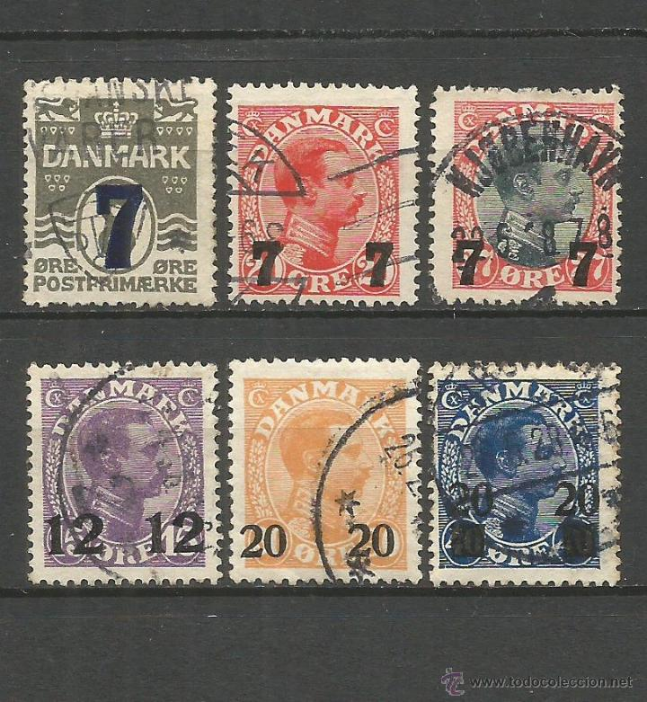 DINAMARCA YVERT NUM. 168/73 SERIE COMPLETA USADA (Sellos - Extranjero - Europa - Dinamarca)