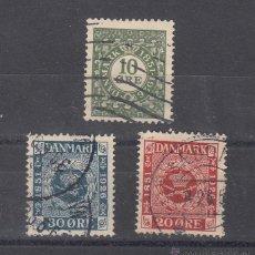 Sellos: DINAMARCA 165/7 USADA, 75º ANIVERSARIO DEL SELLO,. Lote 51242697