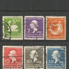 Selos: DINAMARCA YVERT NUM. 229/234 SERIE COMPLETA USADA. Lote 54072739