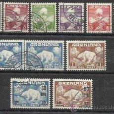 Briefmarken - 7552-2 SERIES COMPLETAS GROENLANDIA 1938 DINAMARCA 1/9+28/9.VALOR 66,00€,CHRISTIAN X Y OSOS POLARES - 54387117