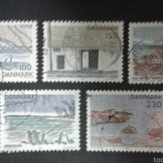 Selos: SELLOS DE DINAMARCA. YVERT 735/39. SERIE COMPLETA USADA.. Lote 54775430