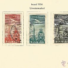 Sellos: DINAMARCA 1934 CORREO AEREO AVION SOBREVOLANDO COPENHAGUE. Lote 54781229
