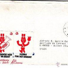 Sellos: SOBRE: 1989 DINAMARCA. HURRA FOR DET DANSKE - KOB DANSK NAR DET ER BEDST. Lote 54815669