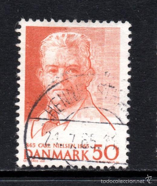 DINAMARCA 440 - AÑO 1965 - MUSICA - CENTENARIO DEL NACIMIENTO DEL COMPOSITOR CARL NIELSEN (Sellos - Extranjero - Europa - Dinamarca)