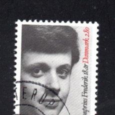 Sellos: DINAMARCA 870 - AÑO 1986 - 18º ANIVERSARIO DEL PRINCIPE FREDERIK. Lote 190624801