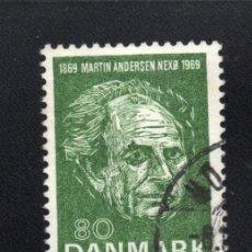 Sellos: DINAMARCA 493 - AÑO 1969 - CENTENARIO DEL NACIMIENTO DEL ESCRITOR MARTIN ANDERSEN. Lote 59475249