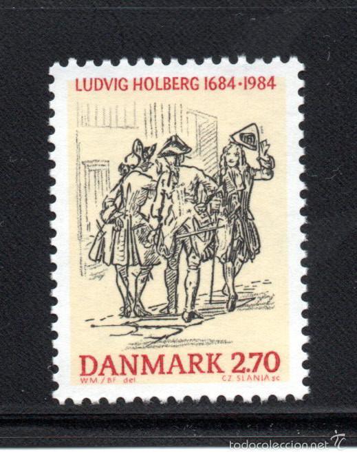 DINAMARCA 820** - AÑO 1984 - 300º ANIVERSARIO DEL NACIMIENTO DEL ESCRITOR LUDWIG HOLBERG (Sellos - Extranjero - Europa - Dinamarca)