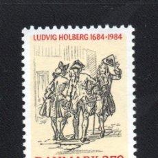 Sellos: DINAMARCA 820** - AÑO 1984 - 300º ANIVERSARIO DEL NACIMIENTO DEL ESCRITOR LUDWIG HOLBERG. Lote 110431702