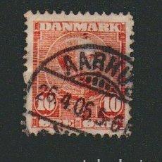 Sellos: DINAMARCA.1906.- 10 ORE.YVERT 54.USADO.. Lote 77253233