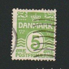 Sellos: DINAMARCA.1933-37.- 5 ORE.YVERT 210.USADO.. Lote 77254121