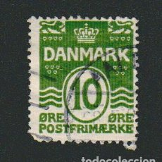 Sellos: DINAMARCA.1921-30.- 10 ORE.YVERT 135.USADO.. Lote 77255065