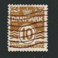 Sellos: DINAMARCA.1933-37.- 10 ORE.YVERT 213A.USADO.. Lote 77255213