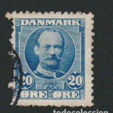 Sellos: DINAMARCA.1907-12.- 20 ORE.YVERT 57.USADO.. Lote 77256261