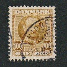 Sellos: DINAMARCA.1907-12.- 100 ORE.YVERT 61.USADO.. Lote 77256421