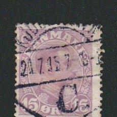 Sellos: DINAMARCA.1913-19.- 15 ORE.YVERT 76.USADO.. Lote 77256729