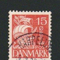 Sellos: DINAMARCA.1933-37.- 15 ORE.YVERT 214.USADO.. Lote 77259013