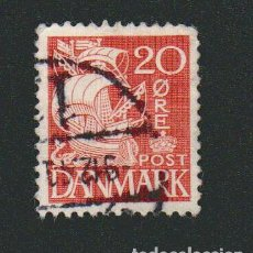 Sellos: DINAMARCA.1933-37.- 20 ORE.YVERT 215.USADO.. Lote 77259149